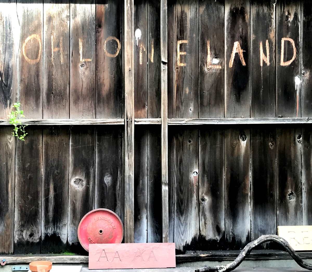 "A sign at Café Ohlone by Mak'amham reads ""Ohlone Land"""