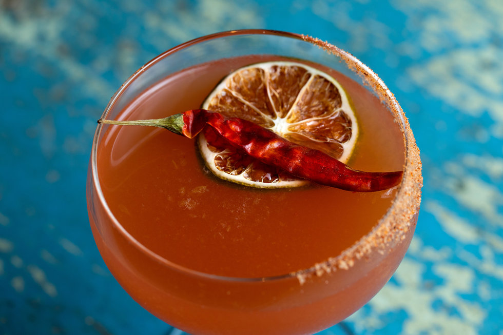 The Tahona Sol is a reinvention of the classic Tequila Sunrise.