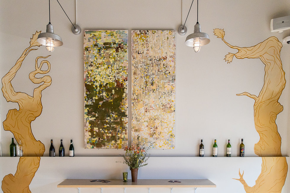 Gilded art by Twin Walls Mural Co. are already Ungrafted's signature photo op.