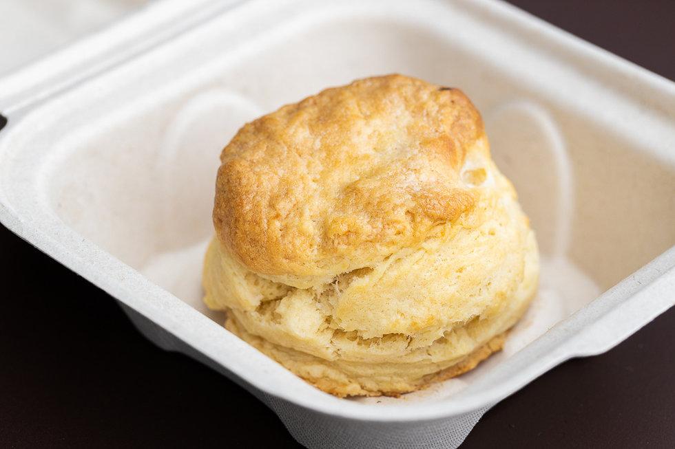 A buttermilk biscuit