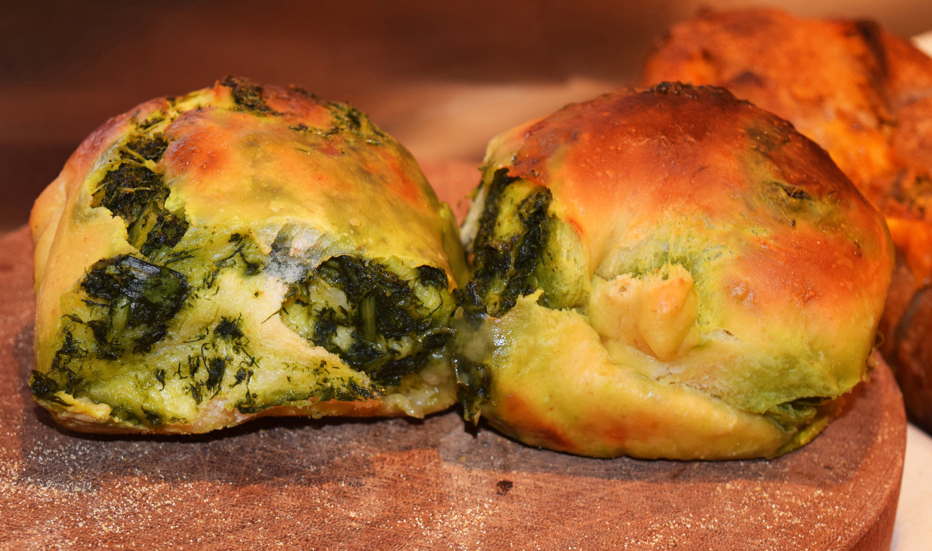 Mayimin likes the flavor of dandelion so she pairs it with fresh dill and swirls it though her rich challah dough.