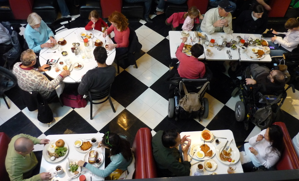 """Peter Levitt, owner of Saul's, a Jewish deli in Berkeley, says that as the minimum wage and housing prices climb, """"the menu prices have to go up, because you have to pay more to retain your labor force."""""""