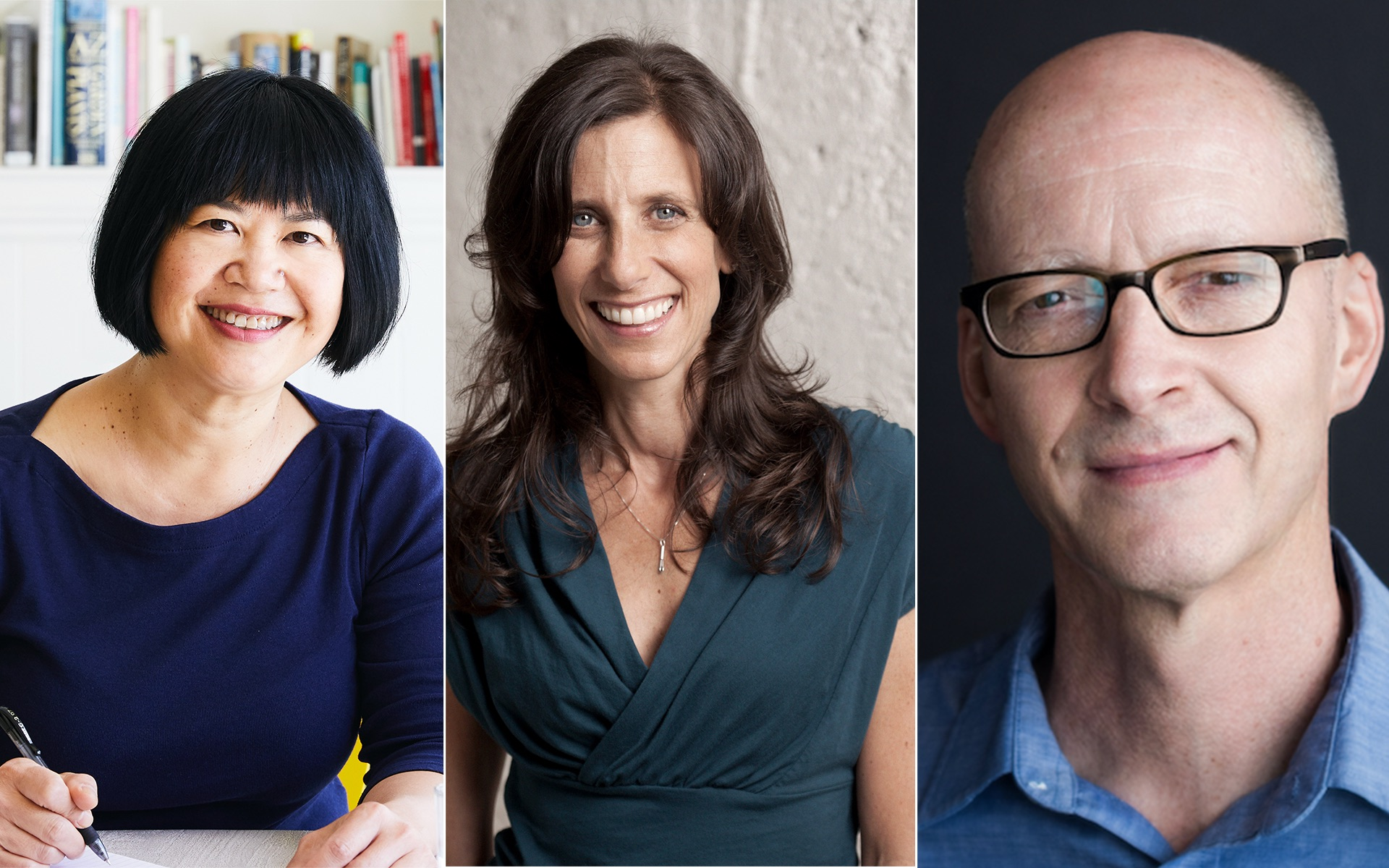 Andrea Nguyen, Jodi Liano, John Birdsall (left to right)