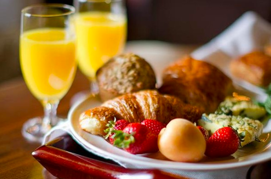 Heap your plate with fruits, pastries, seafood, meats, and more at Cavallo Point's Easter buffet brunch.