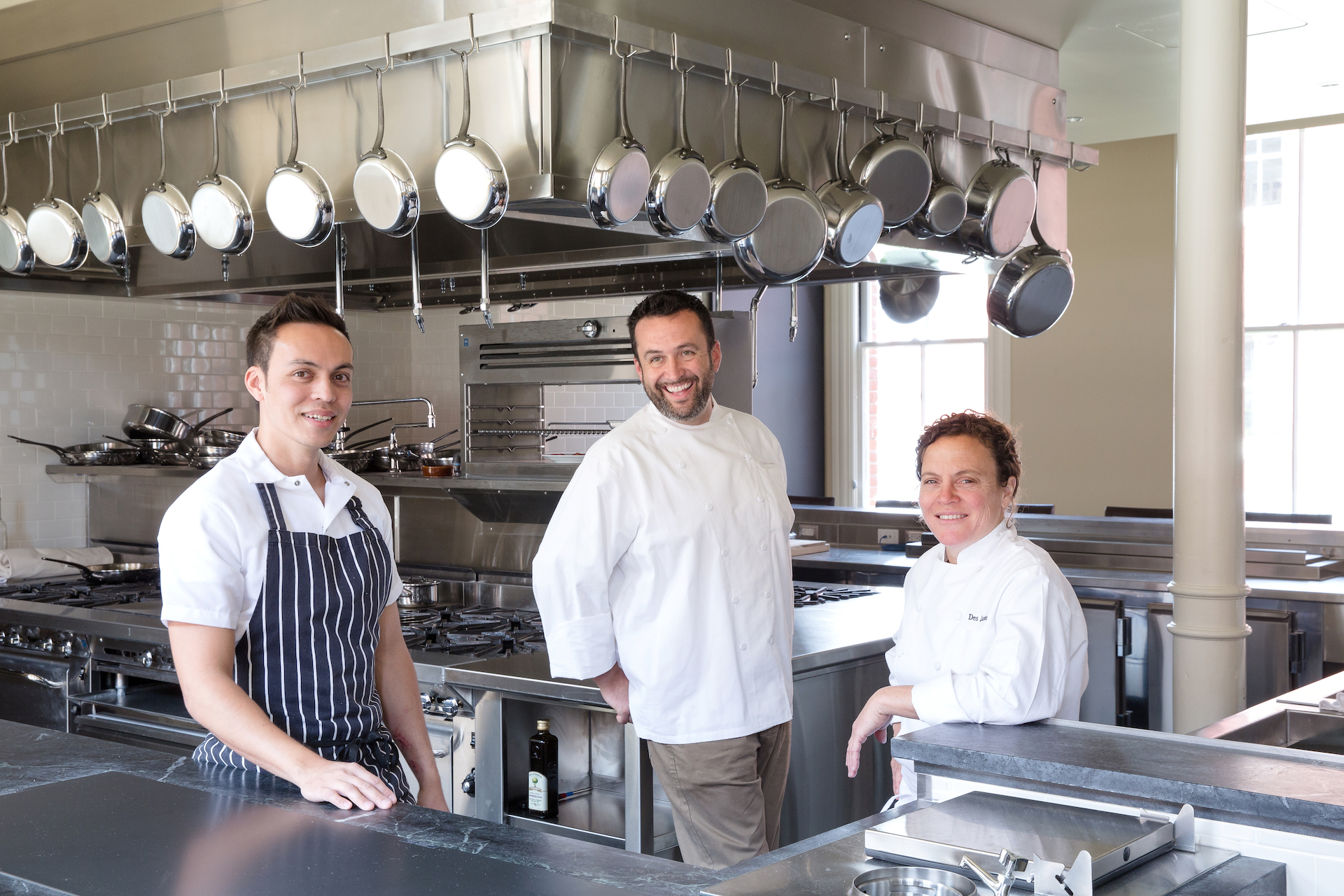 Left to right: Chefs Reylon Agustin, Robbie Lewis and Traci Des Jardins
