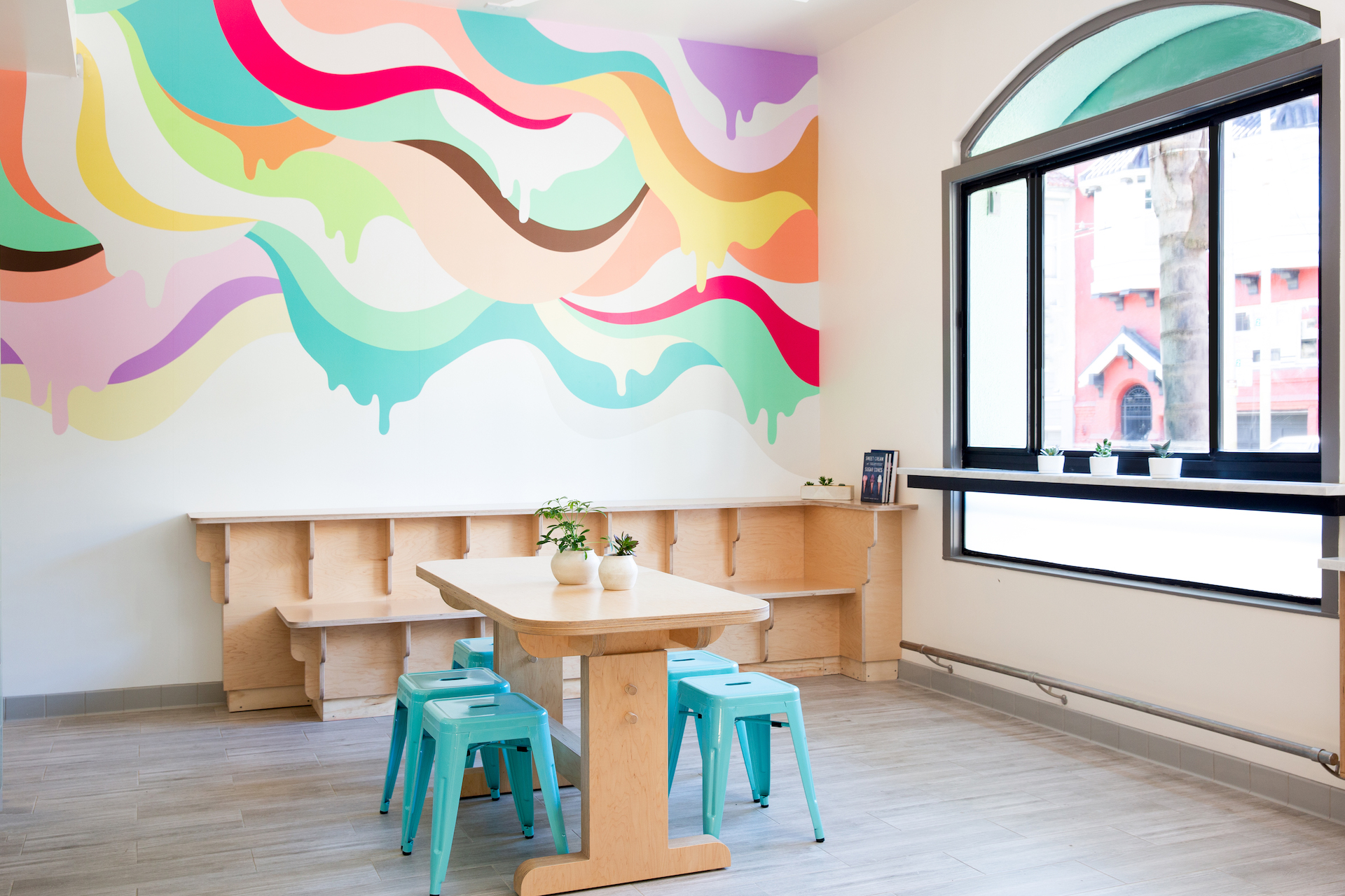 Bi-Rite Creamery's vibrant new ice cream-inspired mural
