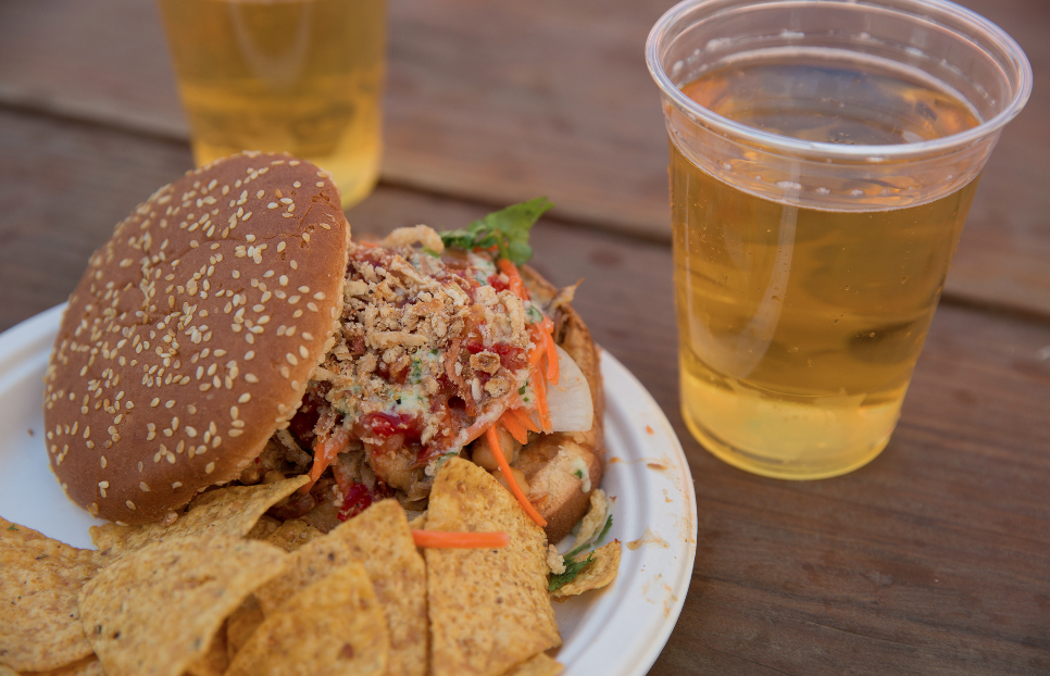 The Menchi Katsu Burger from Morimoto has become a BottleRock standby, and the wait in line is totally worth it.