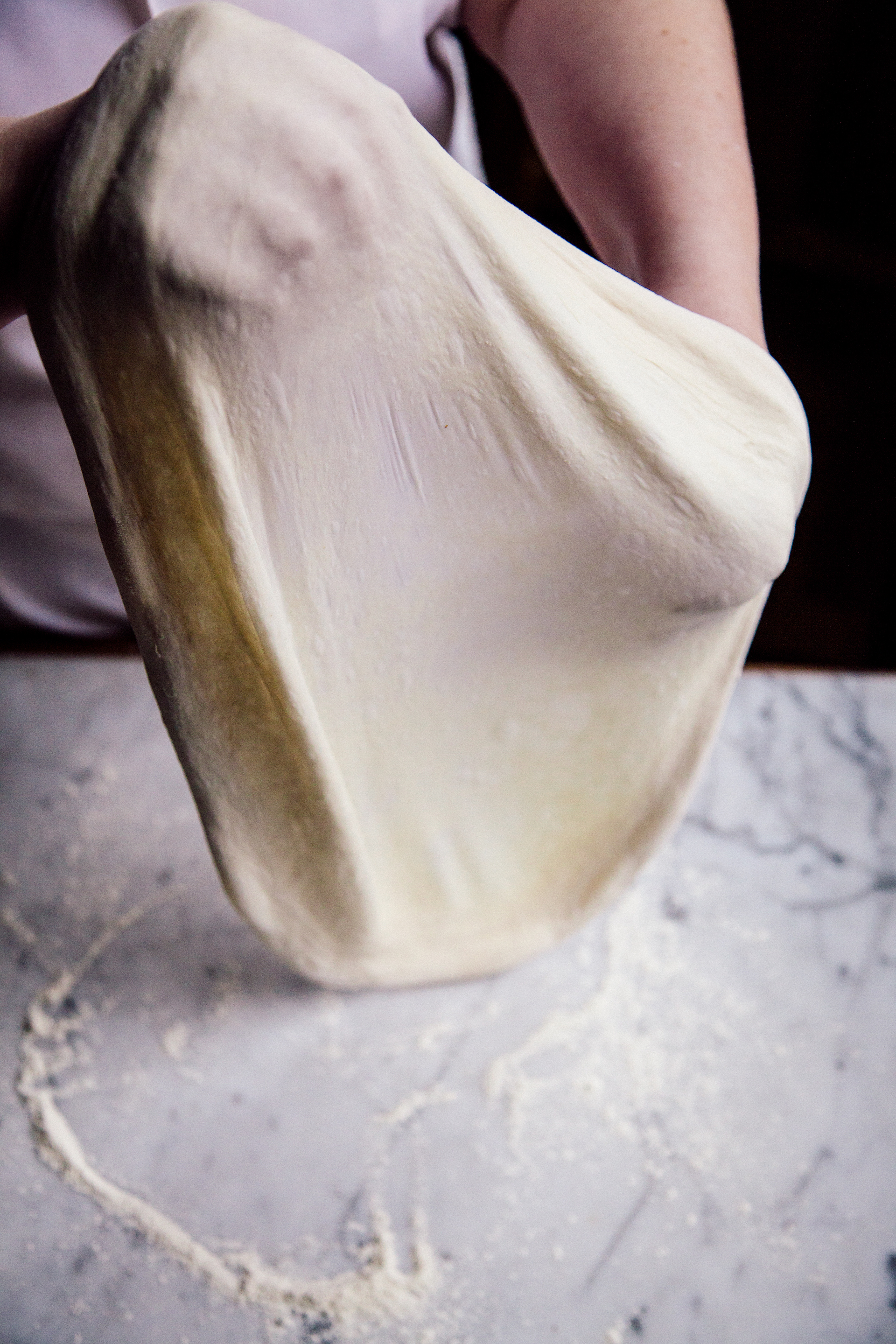 flour + water Pizzeria's dough is fermented over three days.