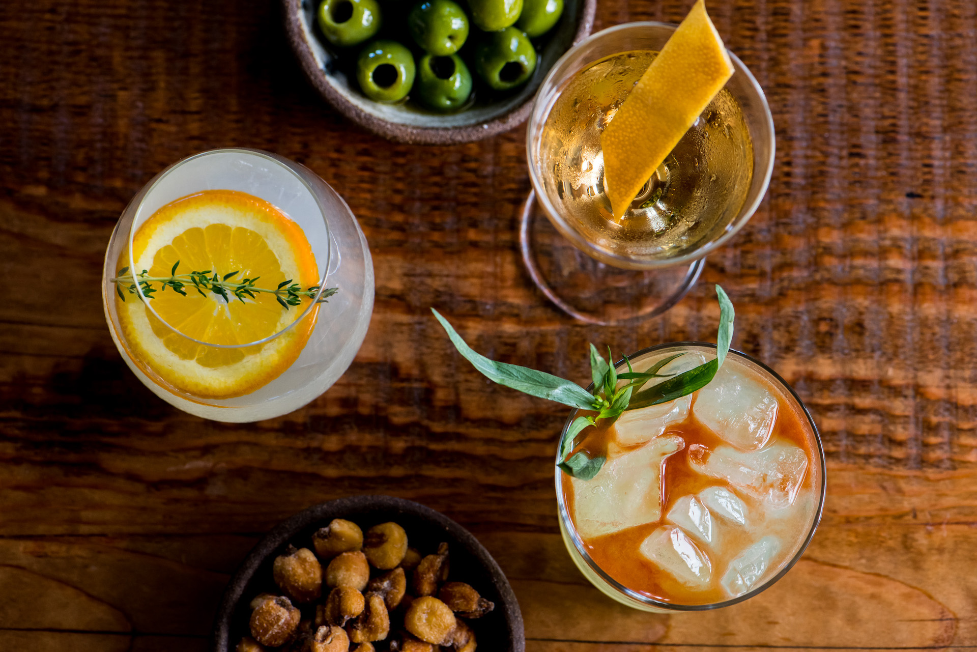 An array of cocktails from The Commissary