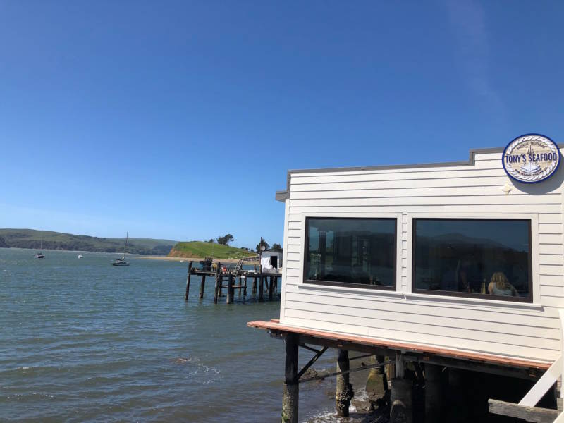 The reopened Tony's Seafood on Tomales Bay