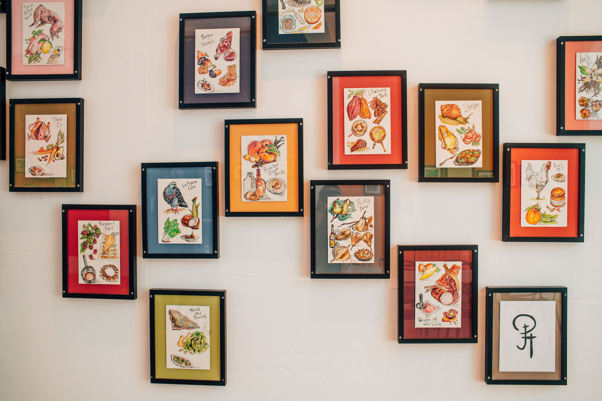Some of Hemsley's art is on display at Palette's gallery.