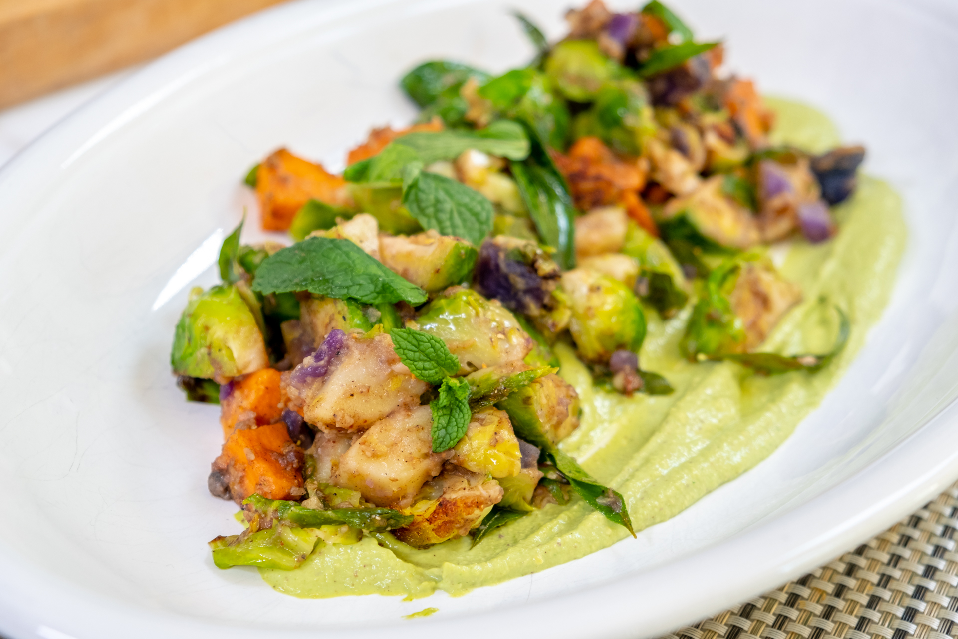 Curry Leaf Ginger Brussels Sprouts