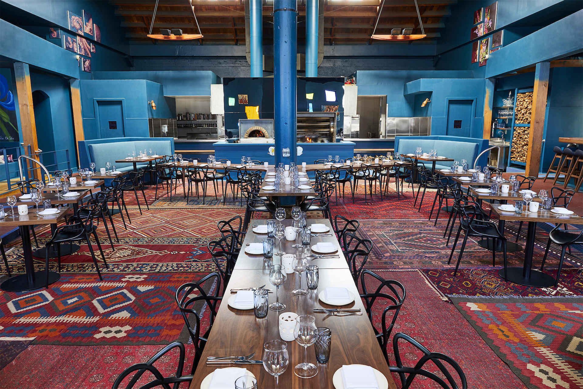 The dining room at the Folsom St.'s Palette