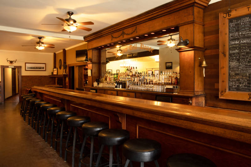 The 100 year-old bar at William Tell House