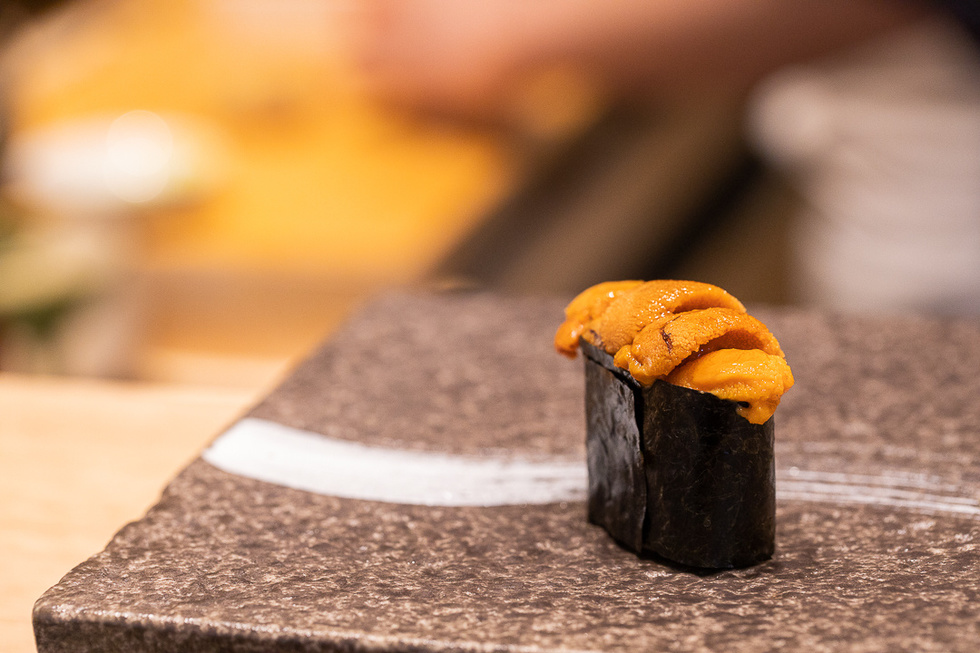 More melt-in-your-mouth goodness comes with a round of sea urchin nigiri—smooth, rich, and buttery.