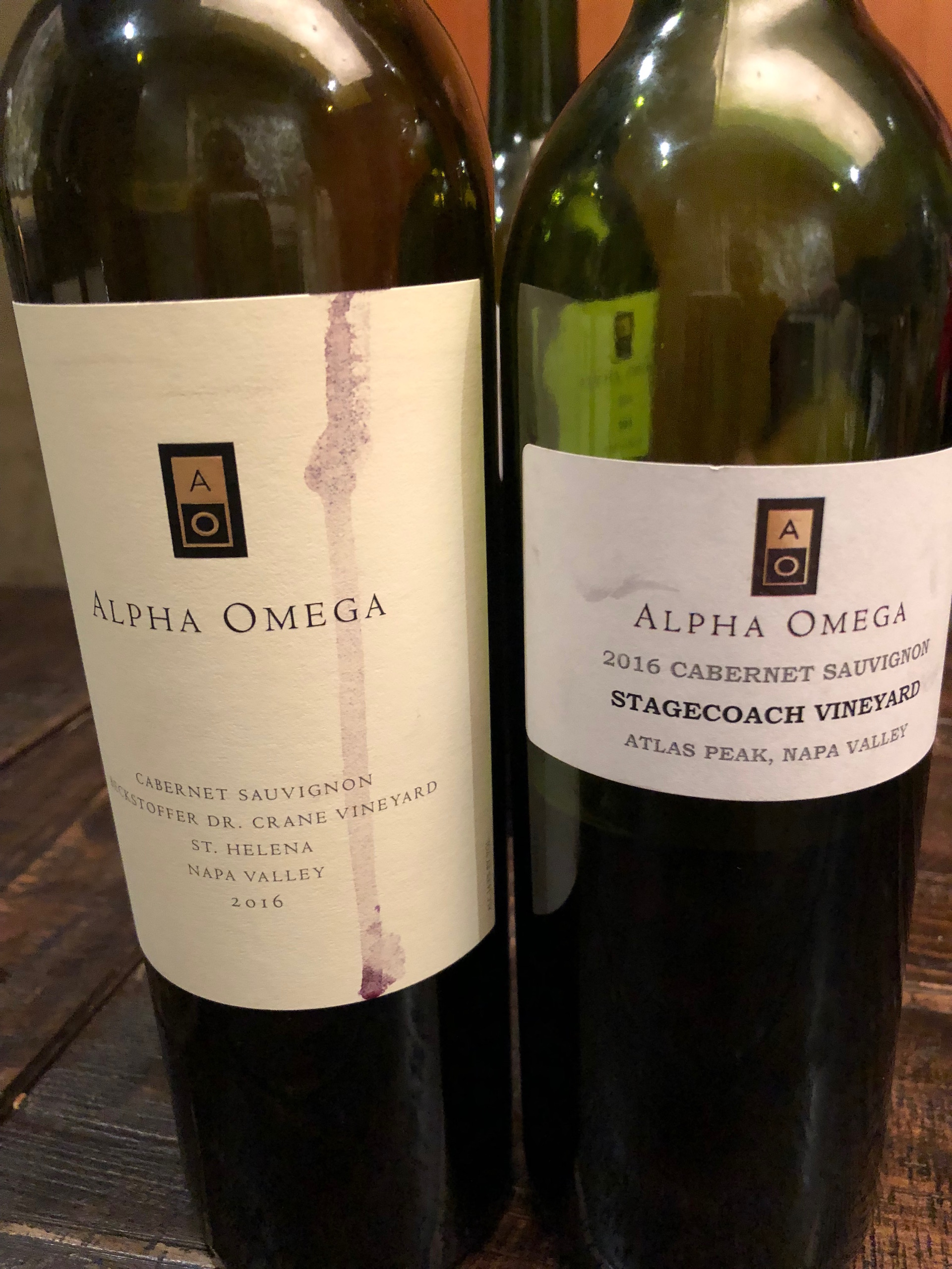 Two of the Napa Valley's most iconic vineyards, Beckstoffer Dr. Crane and Stagecoach, are sources for Alpha Omega Cabernet Sauvignon