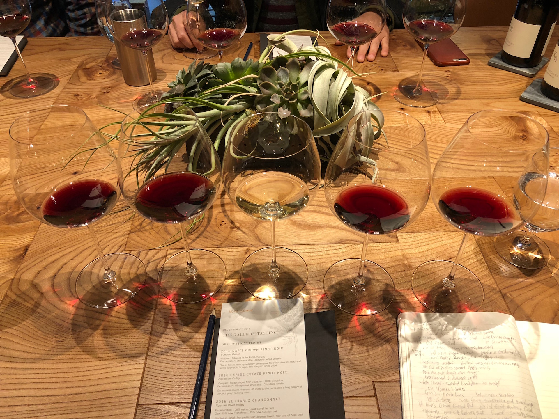 Tasting time at Kosta Browne Winery in Sebastopol