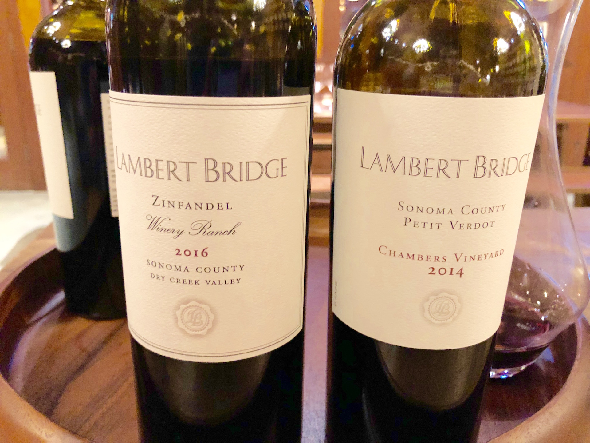 Two standouts at Lambert Bridge Winery in the Dry Creek Valley: a 2016 Winery Ranch Zinfandel and 2014 Chambers Petit Verdot