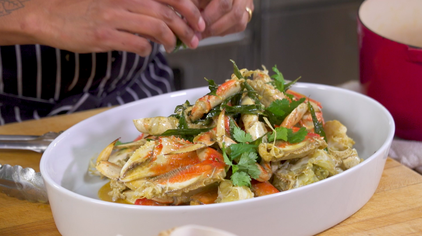 Chef Preeti Mistry's Ginger Chile Dungeness Crab.