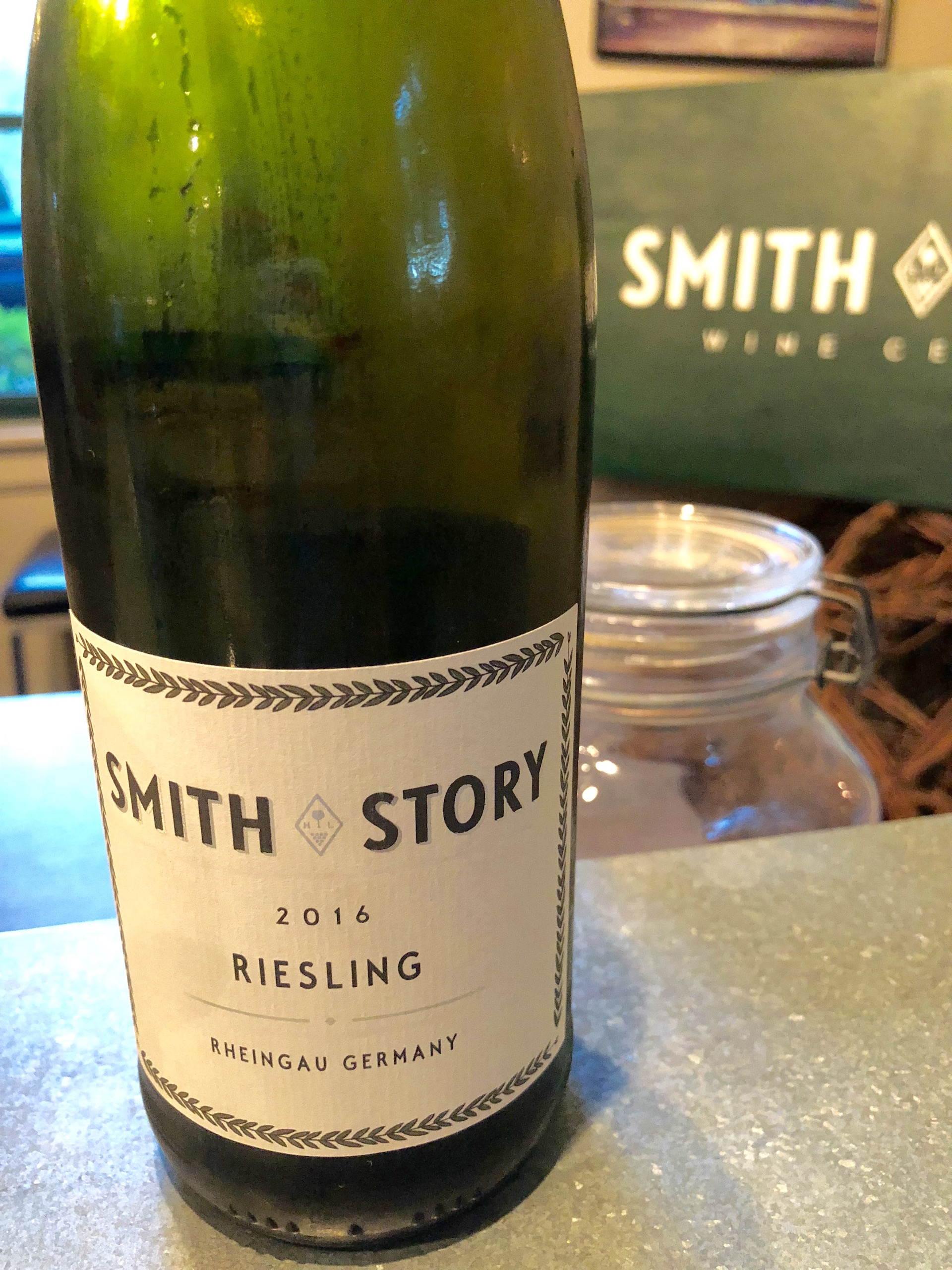 Smith Story's Riesling that literally comes from the Rheingau region in Germany