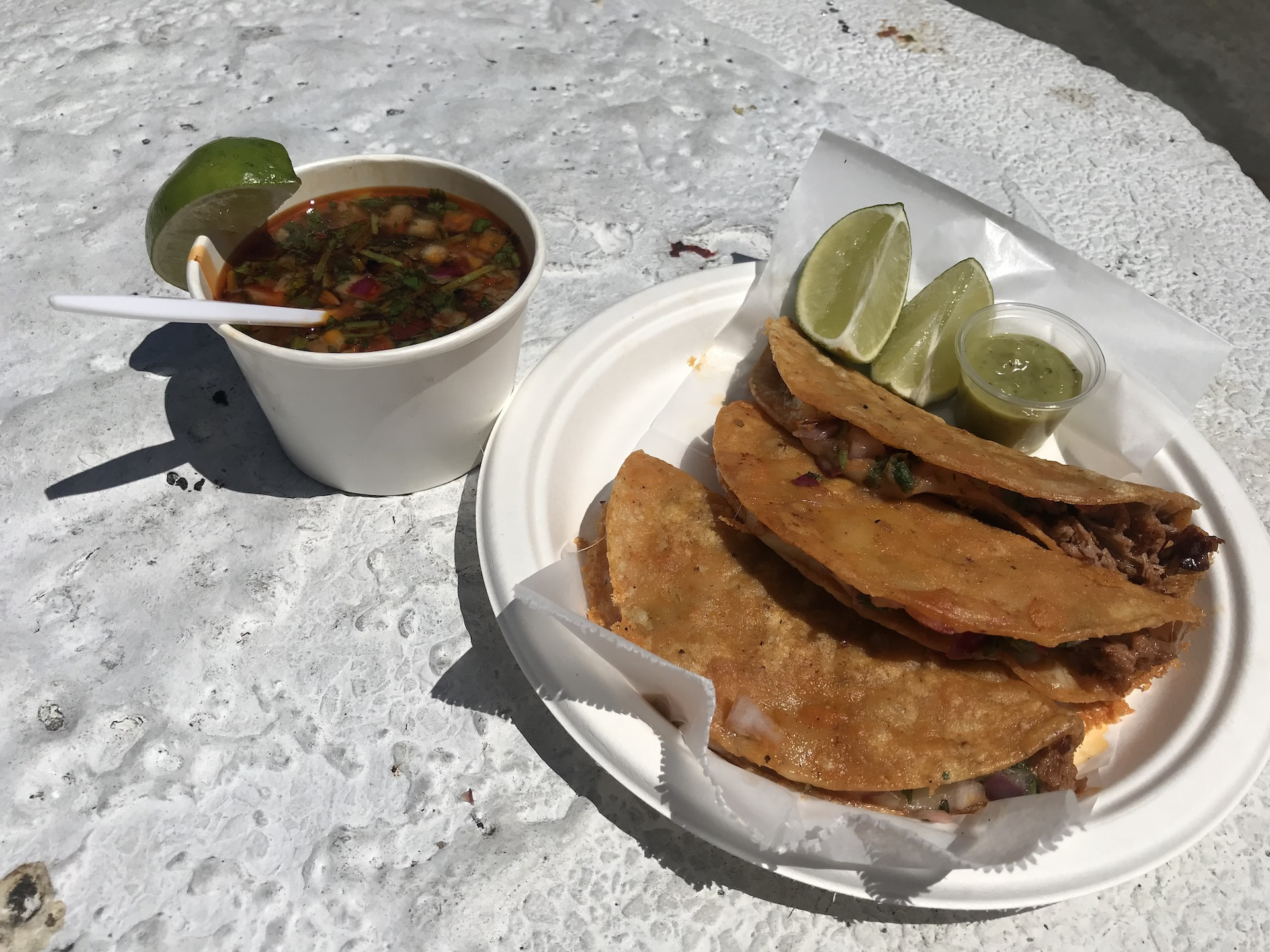 La Santa Torta specializes in Jalisco style birria and consome.