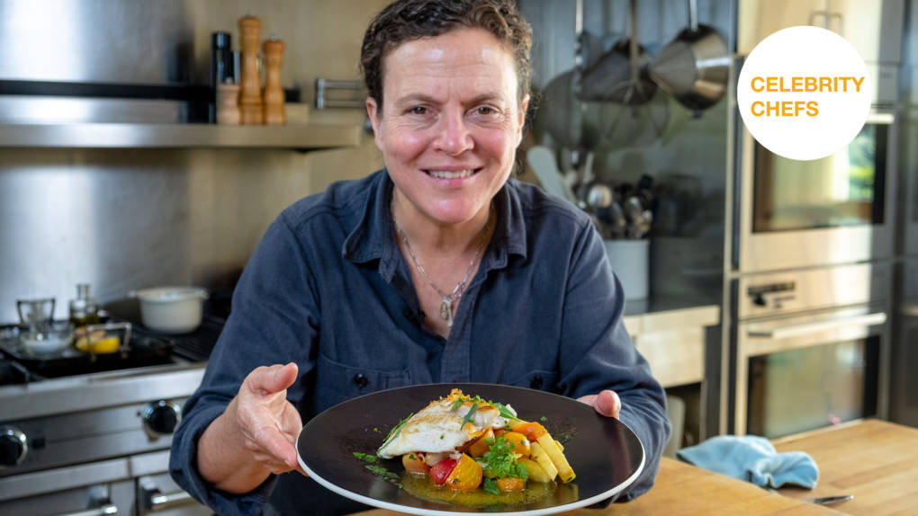 Celebrity Chefs Recipes: Traci Des Jardins's Petrale Sole with Braised Celery Root and Roasted Beets