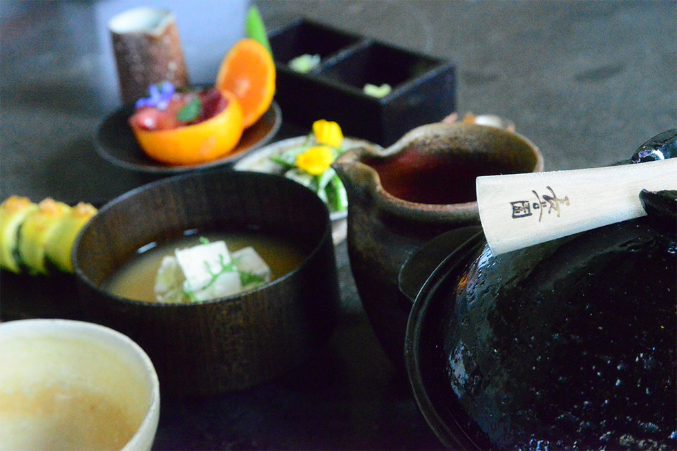 A donabe made an appearance at breakfast the following morning, in SingleThread's Japanese Breakfast.