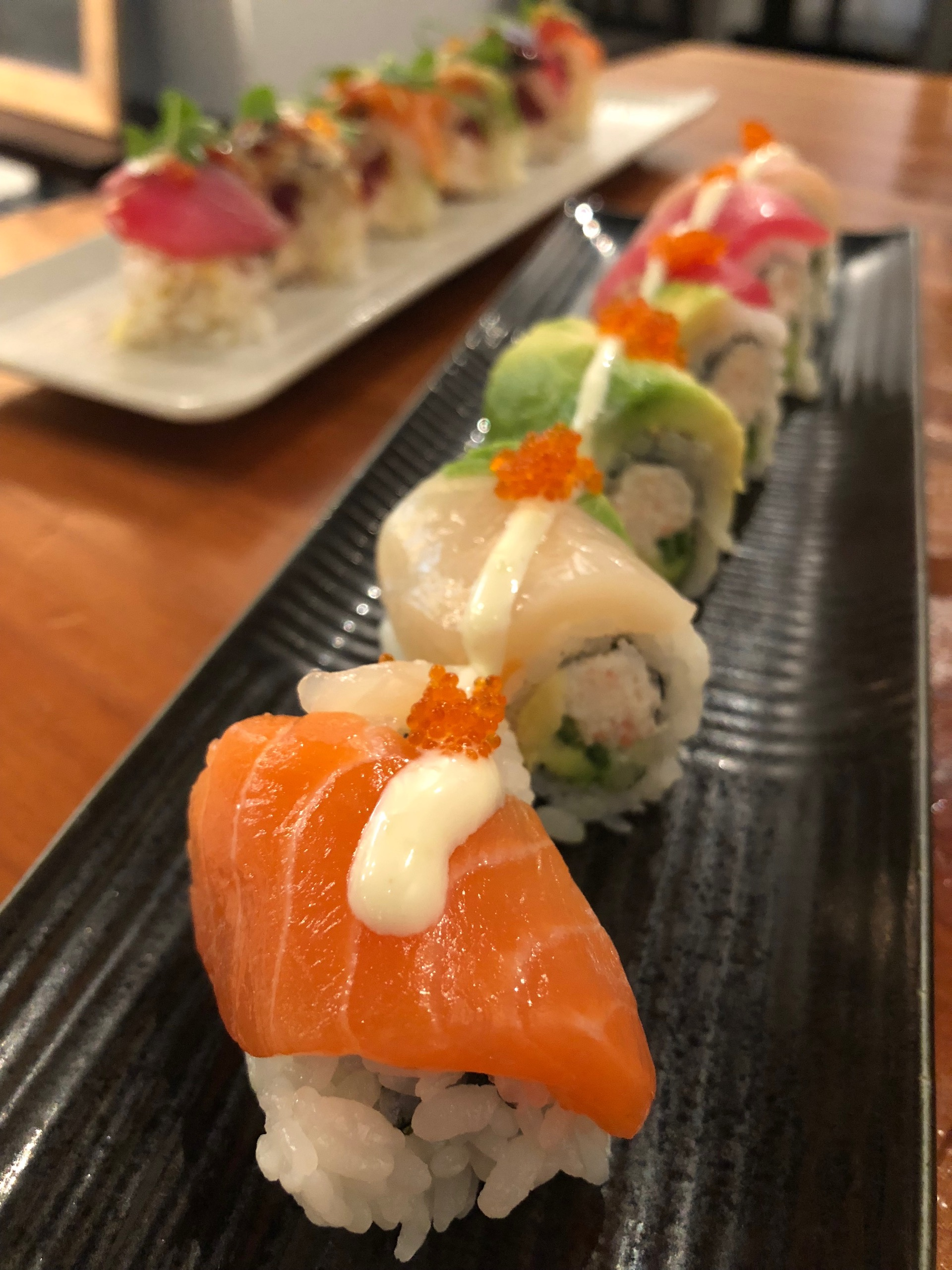 Celebrity Dining: The Rainbow #1 roll at San Bruno's Gintei right by SFO.