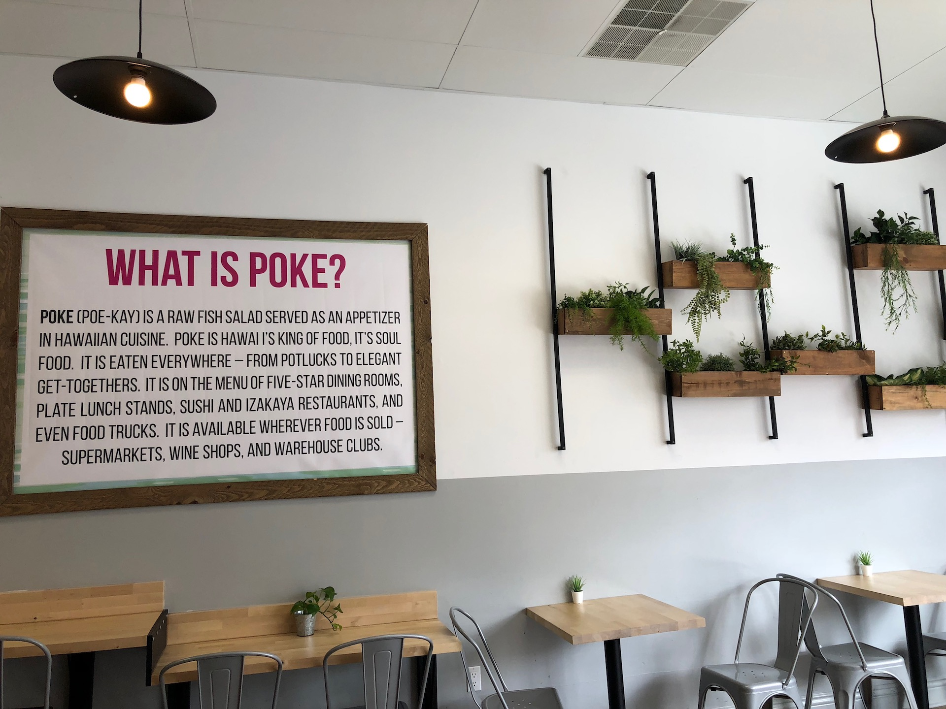 Celebrity Dining: Eating at Sam Choy's Poke to the Max in San Bruno is a fun—and a learning—experience before or after a flight.
