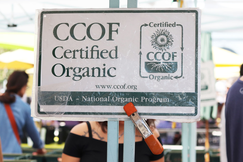 CCOF Certified Organic sign