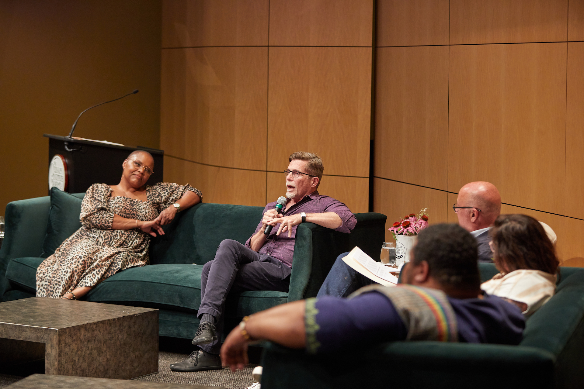 """Andrew Zimmern moderated the first live talk series """"Conversations at Copia"""" on September 7, 2019."""