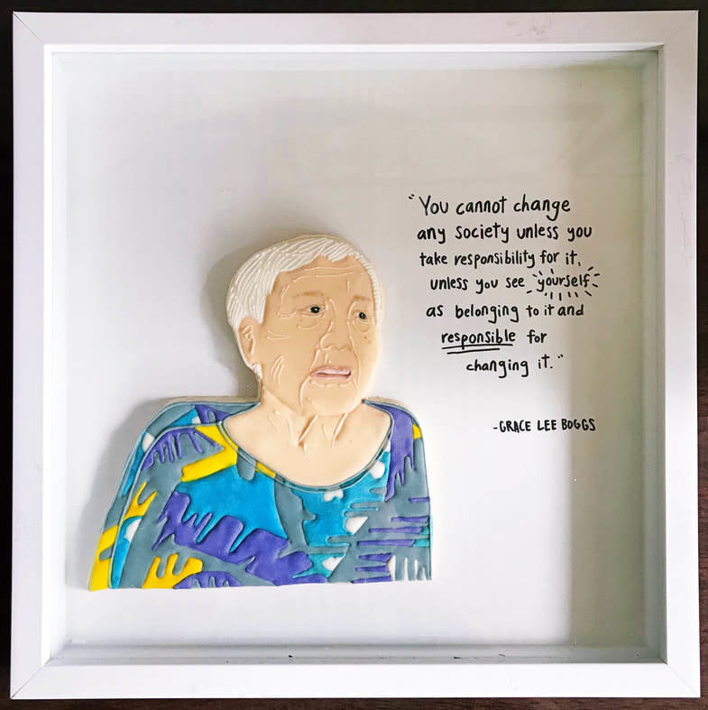 Cho's portrait of human rights activist Grace Lee Boggs