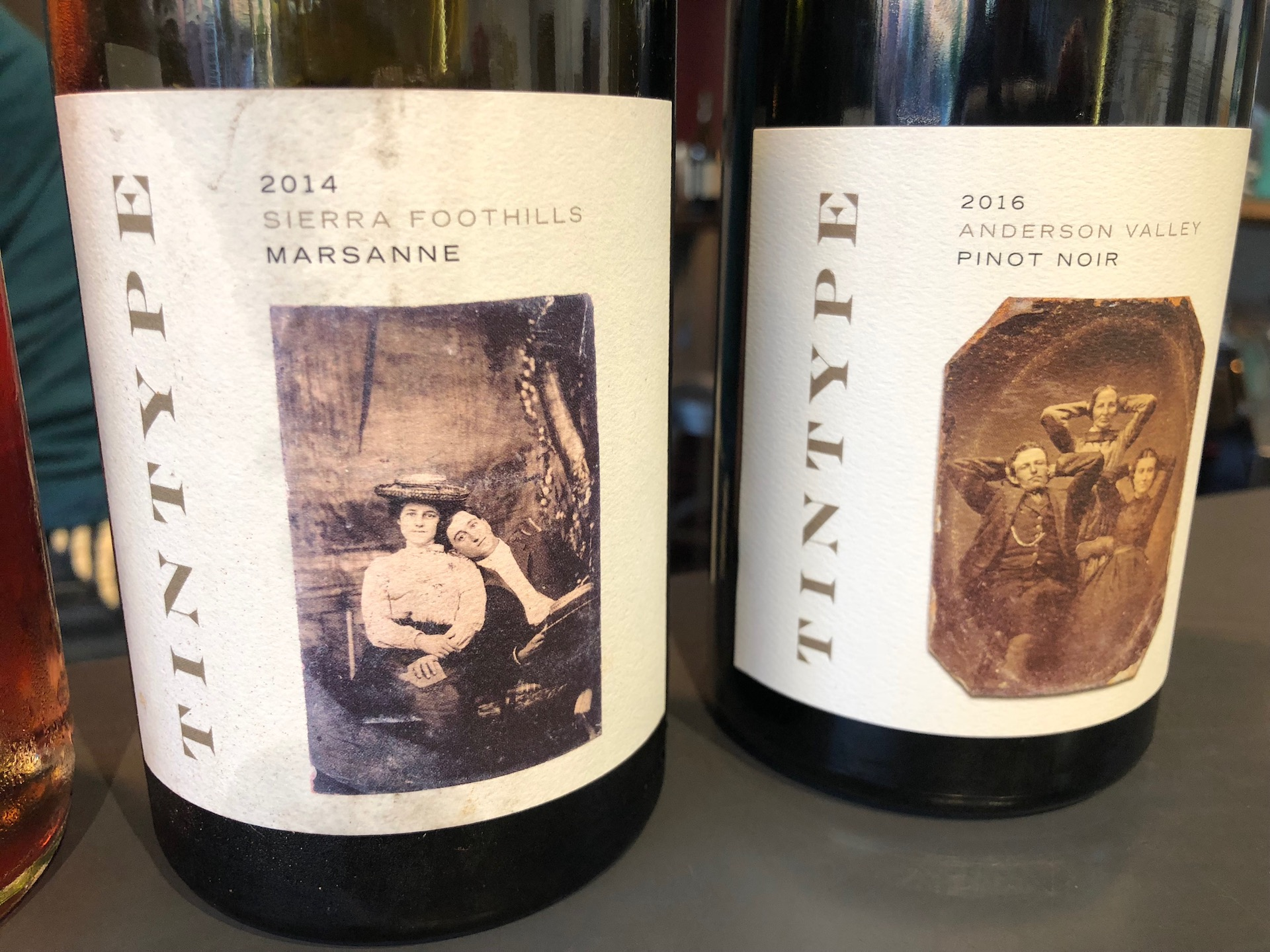 Tintype's labels show how the wines are focused on different regions of California wine — and old photography
