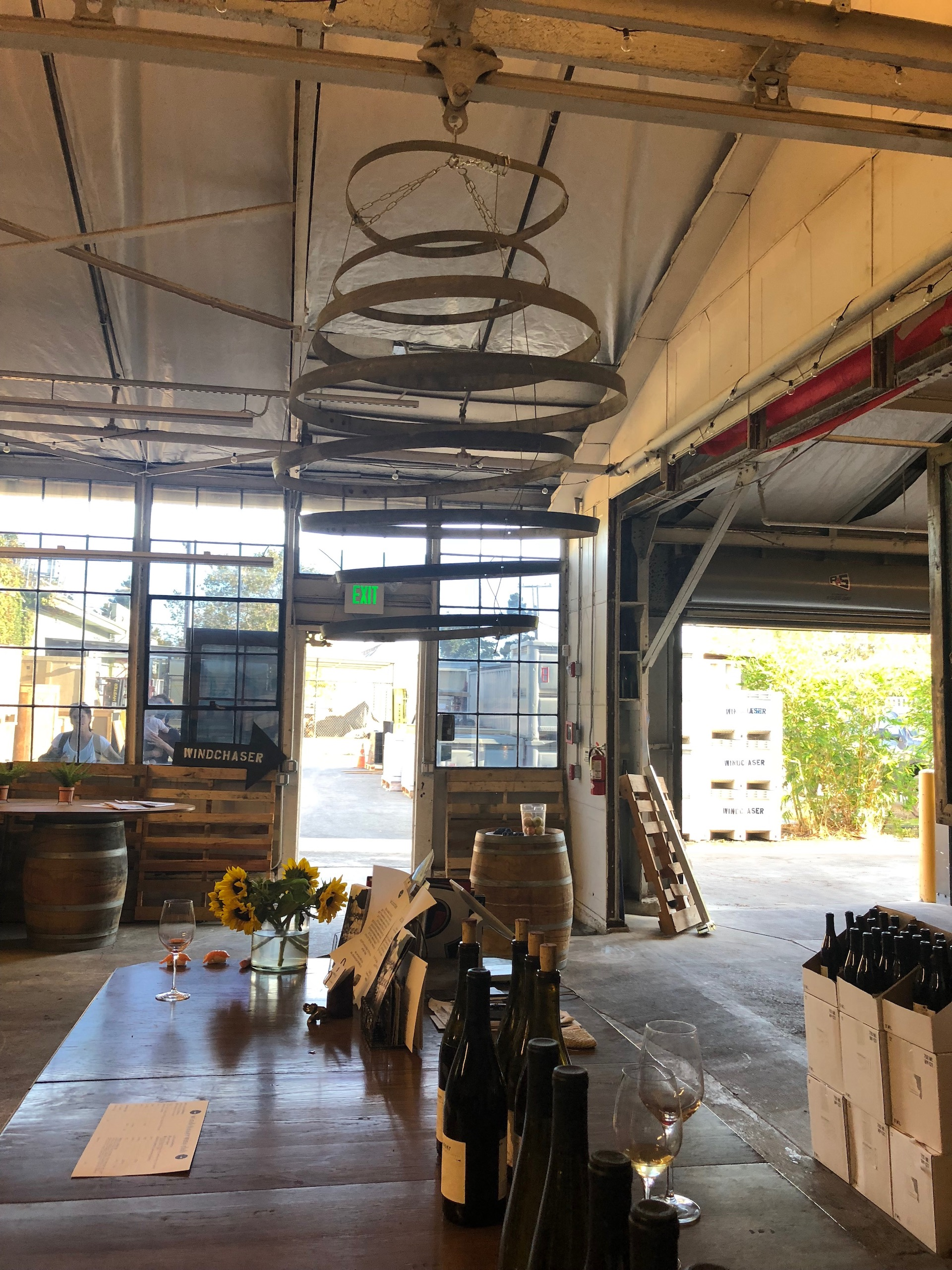 The winery and tasting room are the same space for Windchaser