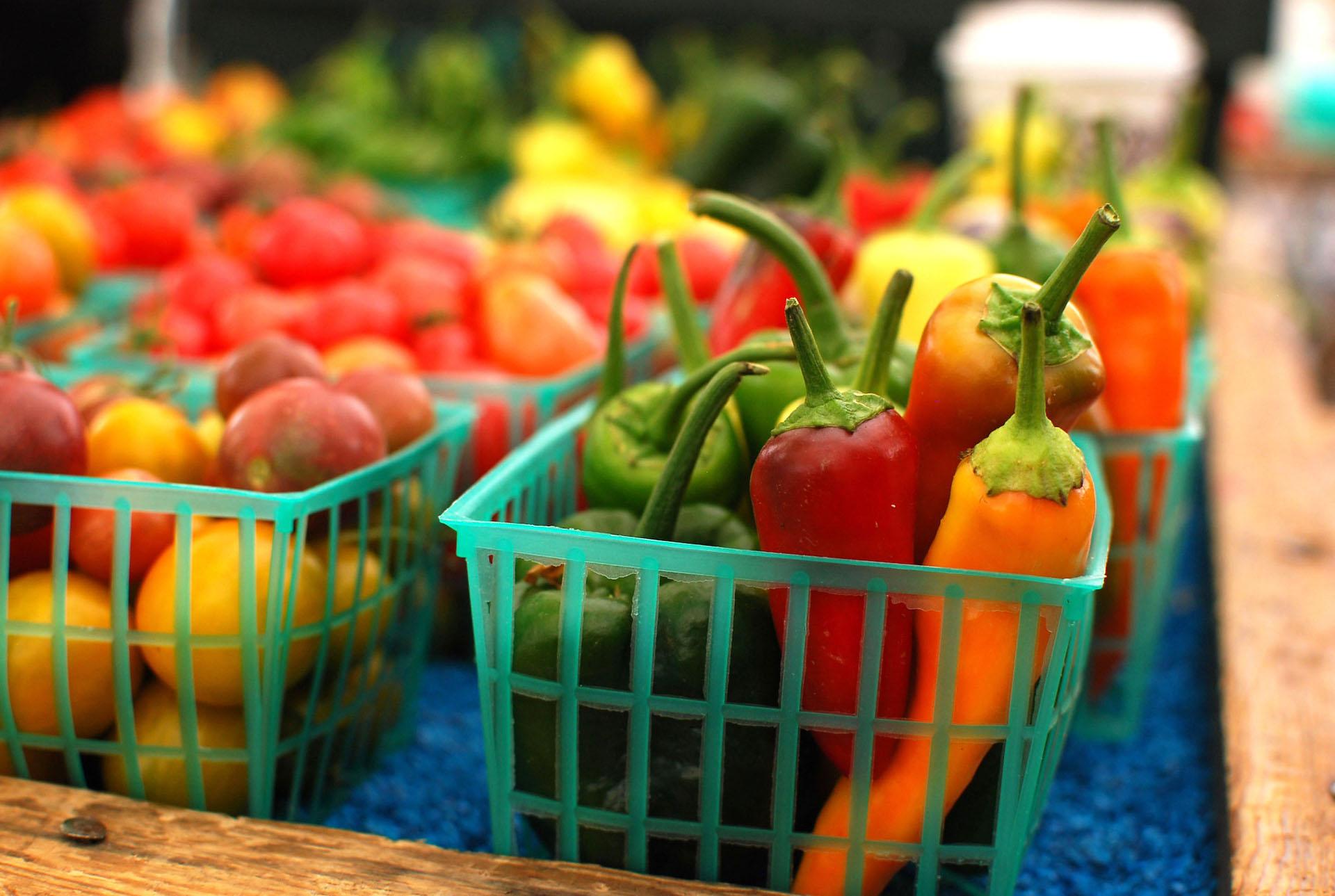 An assortment of peppers