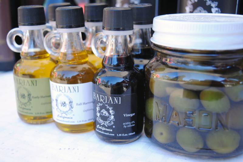 Mini olive oils from Bariani make great stocking stuffers.