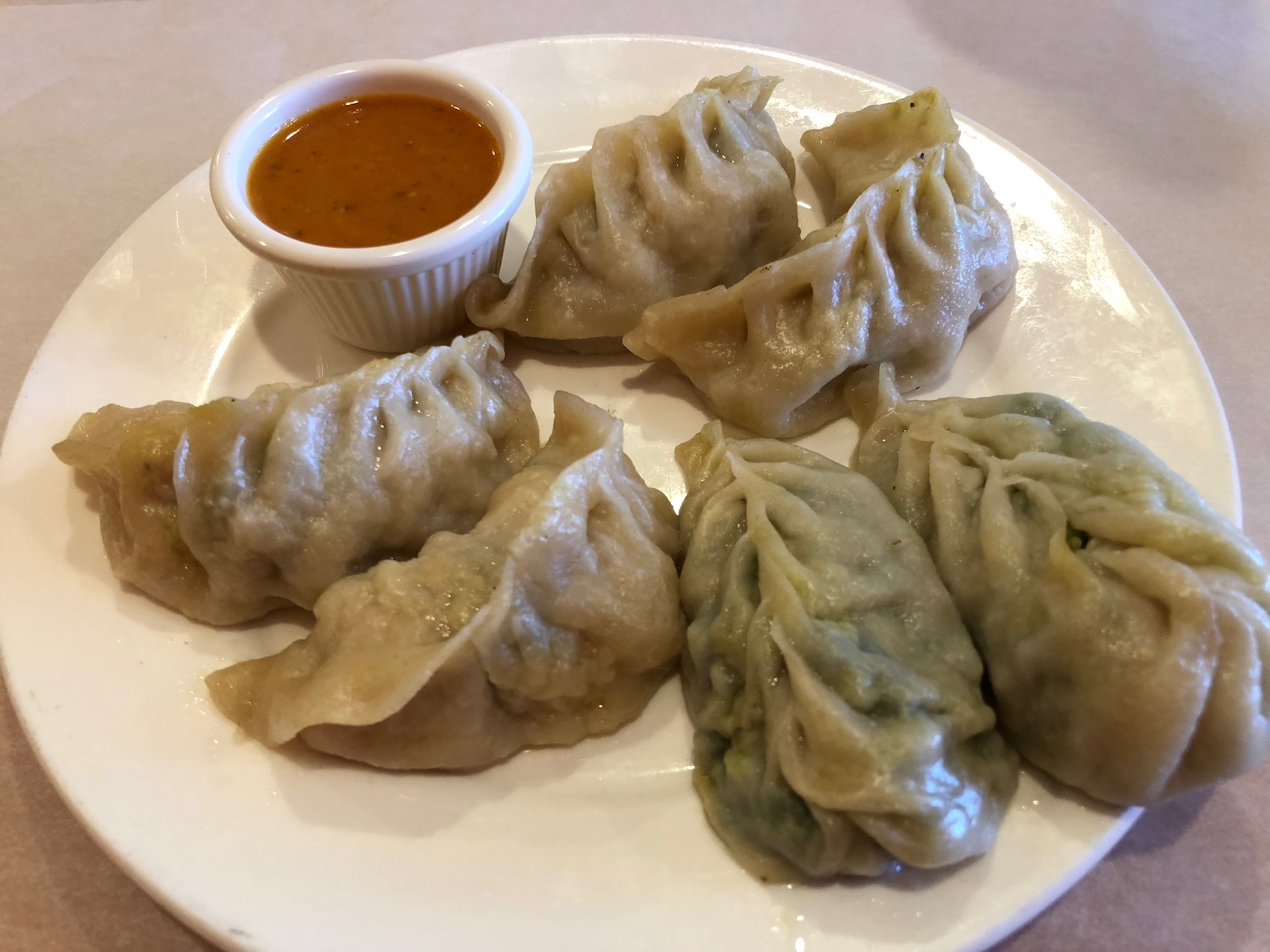Cuisine of Nepal's excellent momos come six to an order