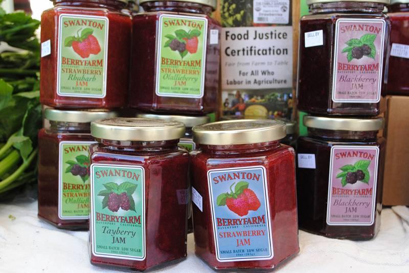 Tasty Jams from Swanton Berry Farm.