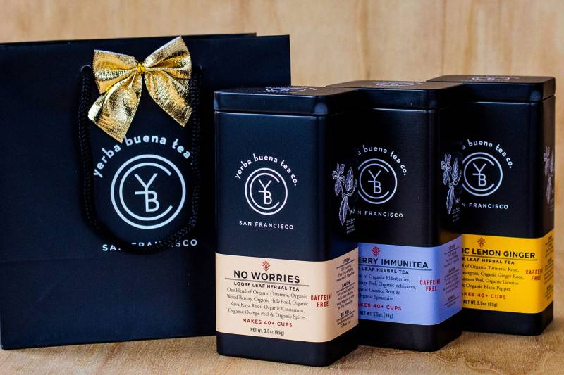 Tea gift bags from Yerba Buena Tea Co.