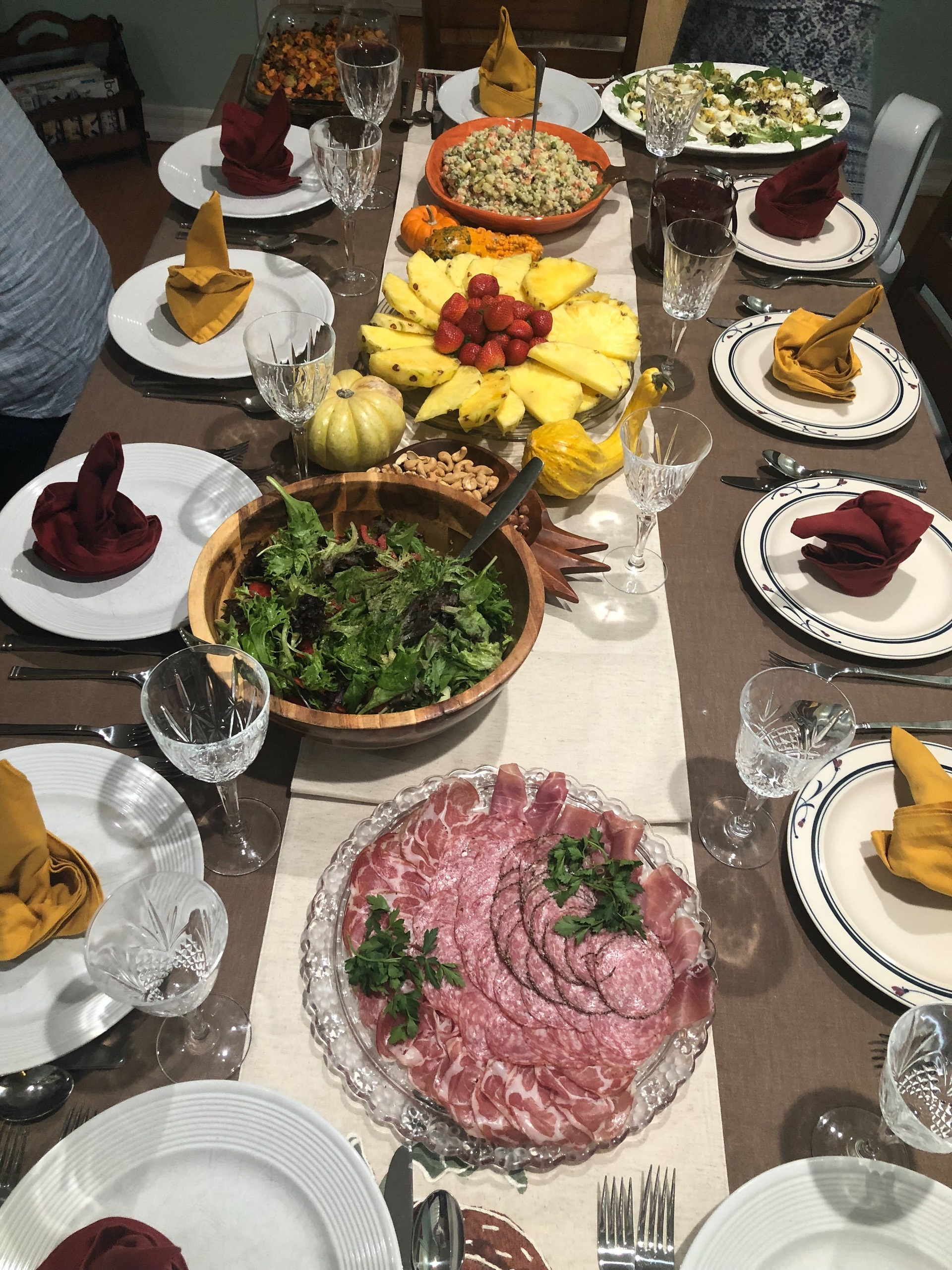 The spread at Masha Pershay's mother's house on Thanksgiving.