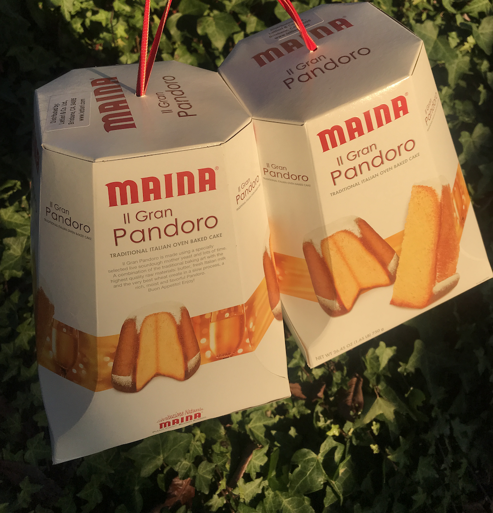 Pandoro, panettone's dry fruit free cousin.