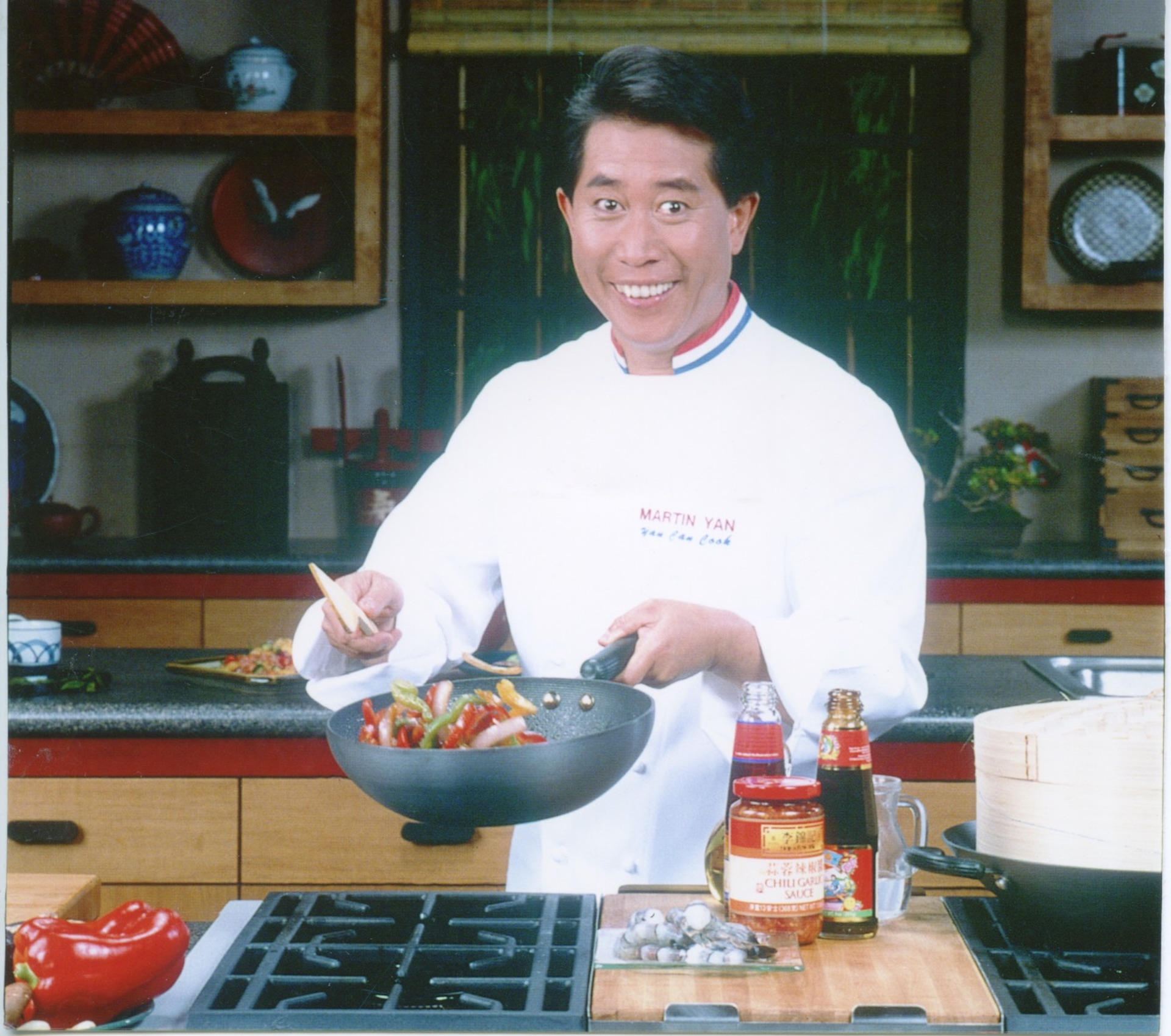 "With his famous catchphrase ""If Yan can cook, you can too!"", chef Martin Yan introduced audiences to Chinese cooking techniques."