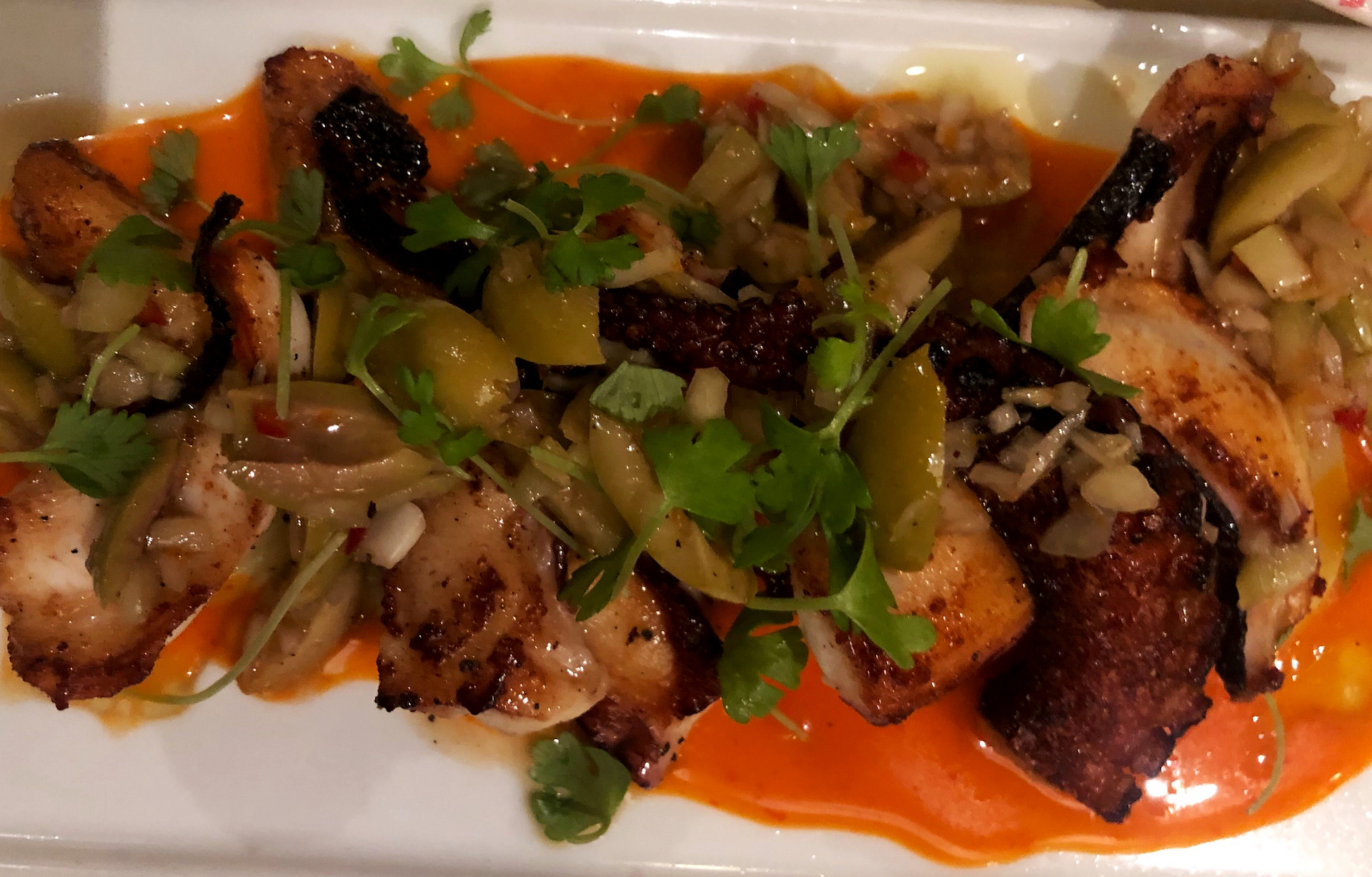 Octopus is a mainstay at Oakland restaurant Shakewell's Mediterranean inspired menu.