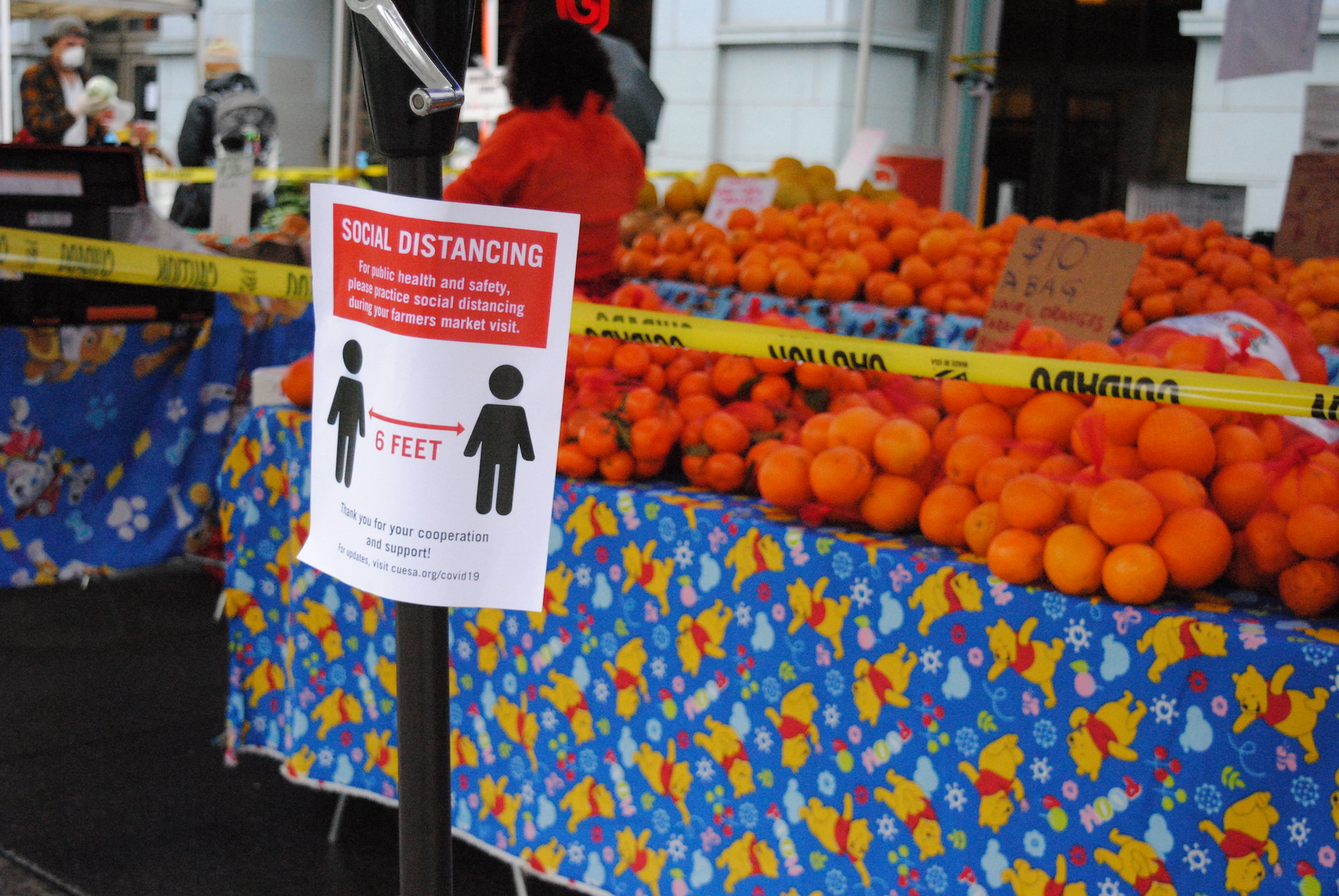 Social distancing guidelines and additional hand washing stations are one of the ways farmers markets like CUESA have adapted to the coronavirus pandemic.