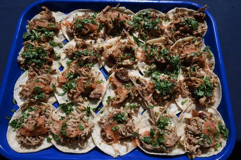 Tray of tacos
