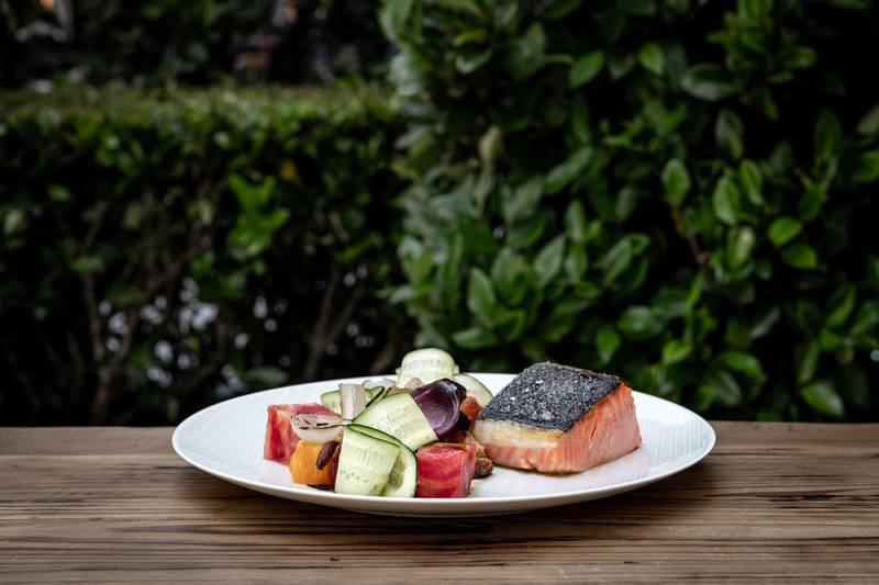 Salmon dish at The Vault Garden