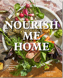 Nourish Me Home cookbook cover