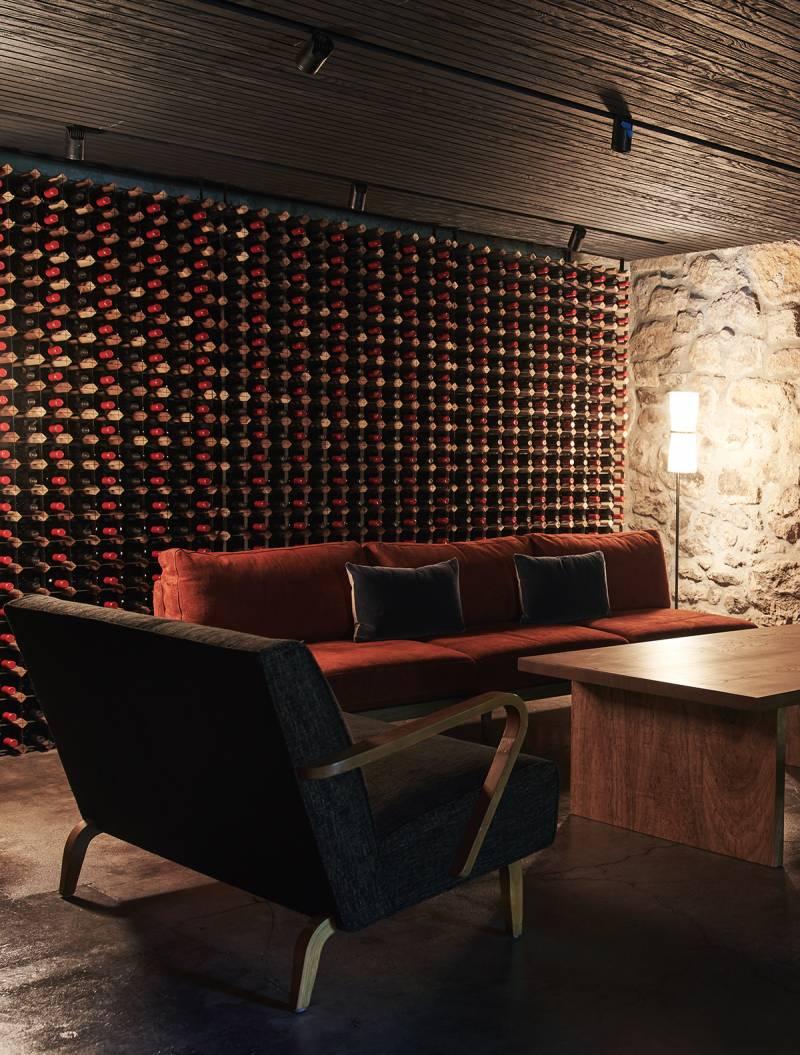 Faust Haus wine cellar