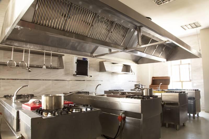 industrial kitchen at restaurant