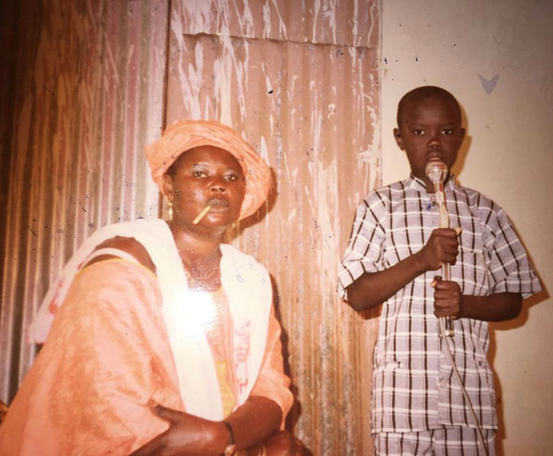 Oumar Diouf as a boy in Senegal.